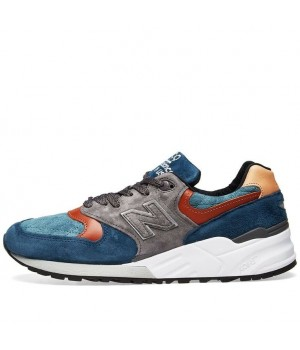 New Balance 999 Cozies Up for Fall in Blue/Grey - Blue US12